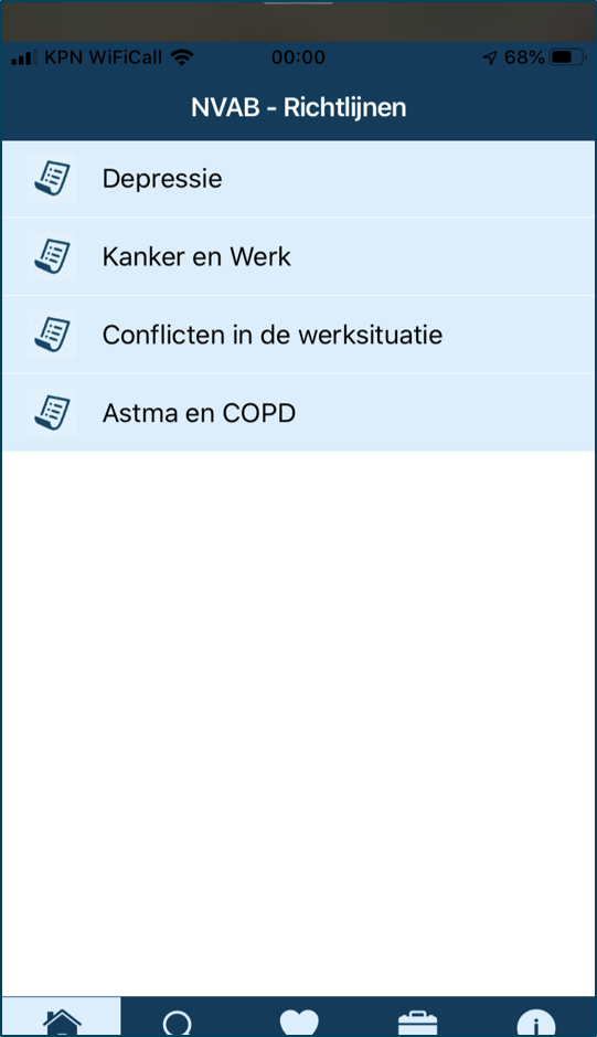 Homepage NVAB-richtlijnen app