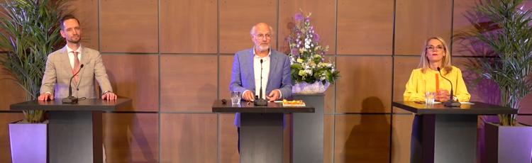 Aios bedrijfsgeneeskunde Bart van Leeuwen en Hans Dam, projectleider Rookvrije Organisatie