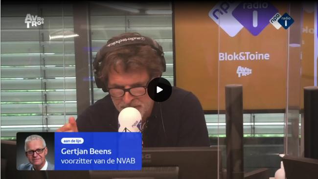 """Gertjan Beens op radio 1:""""Het gaat je baas in feite niets aan wat je mankeert"""""""